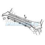 Cowl Vent Kit, Chevrolet, P/U, Stainless Steel, 67
