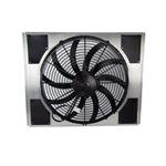 Universal Fit SPAL Electric Fan & Shroud Kit w/ Wire Harness