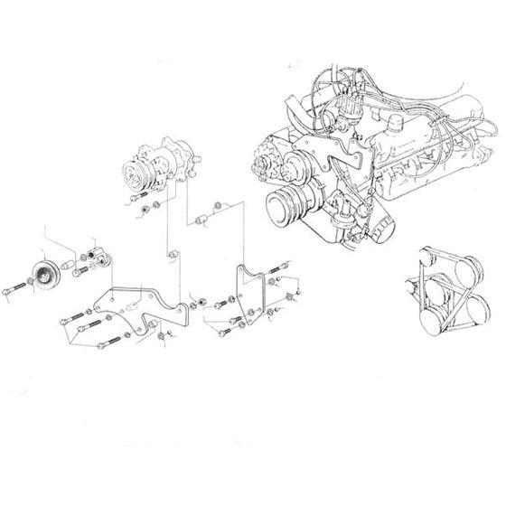 Bracket, Ford 289 (use w/3 groove crankshaft pully)
