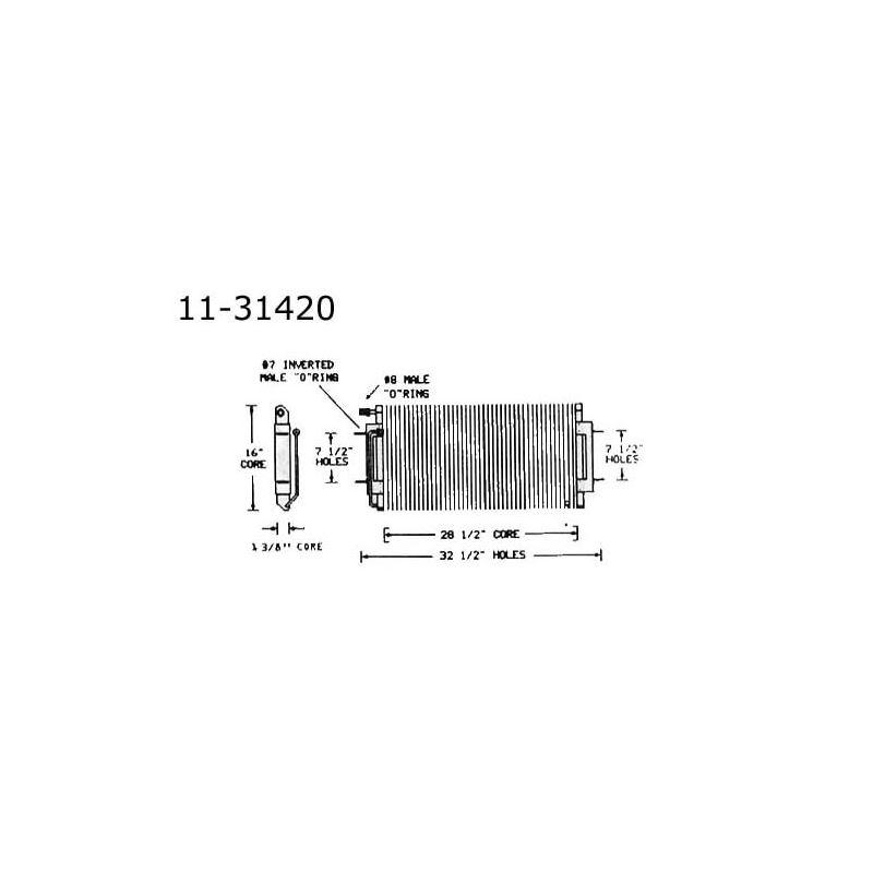 Condenser Cadillac, Eldo, 68-69 11-31420