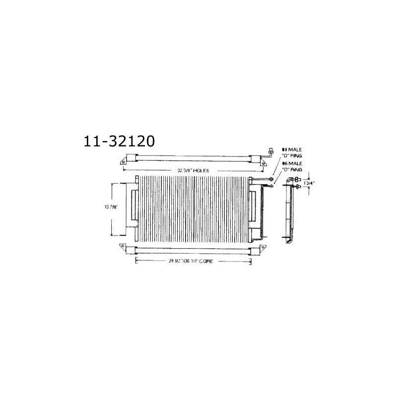 Condenser Chevrolet, All Pass, 74-76 11-32120