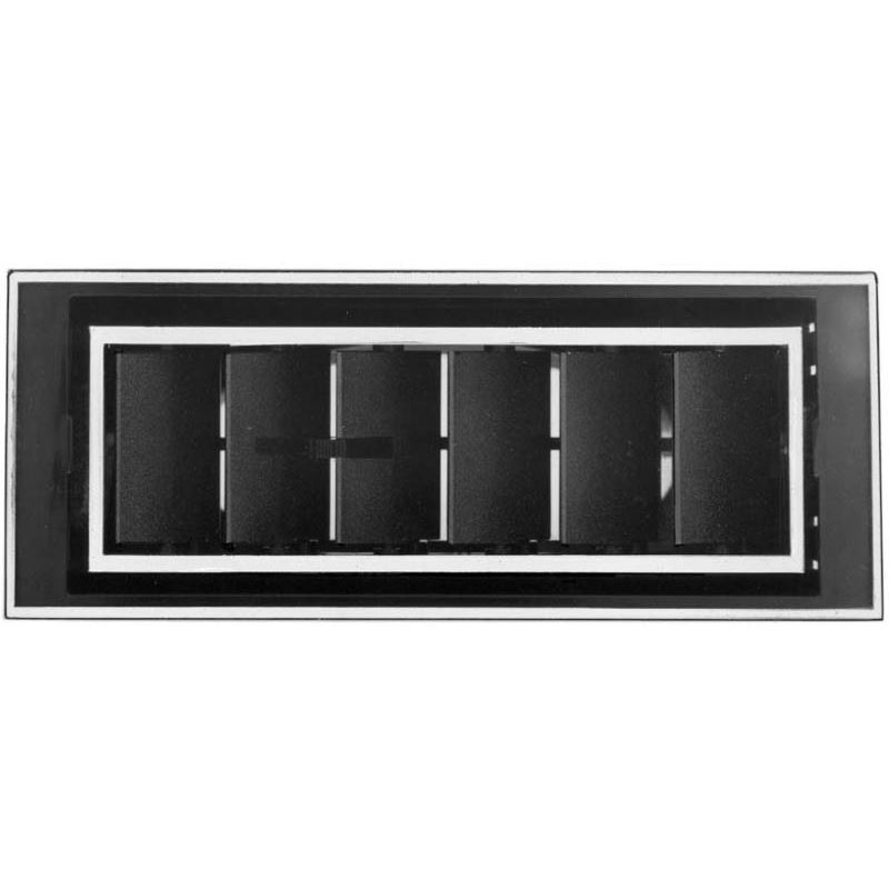 """Louver Extra Large In-Dash, 2 1/2"""" Inlet 32-8"""