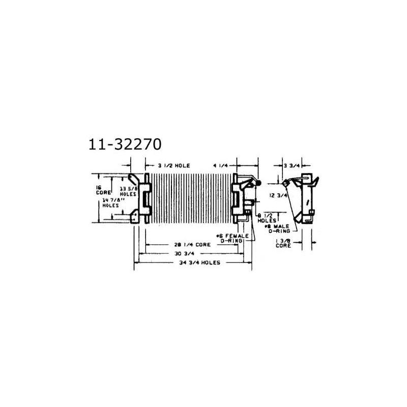 Condenser Pontiac Firebird w/ V8, 72-81 11-32270