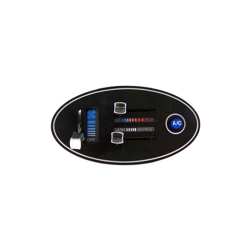 Billet, Oval Electronic Slide Control and Heater V