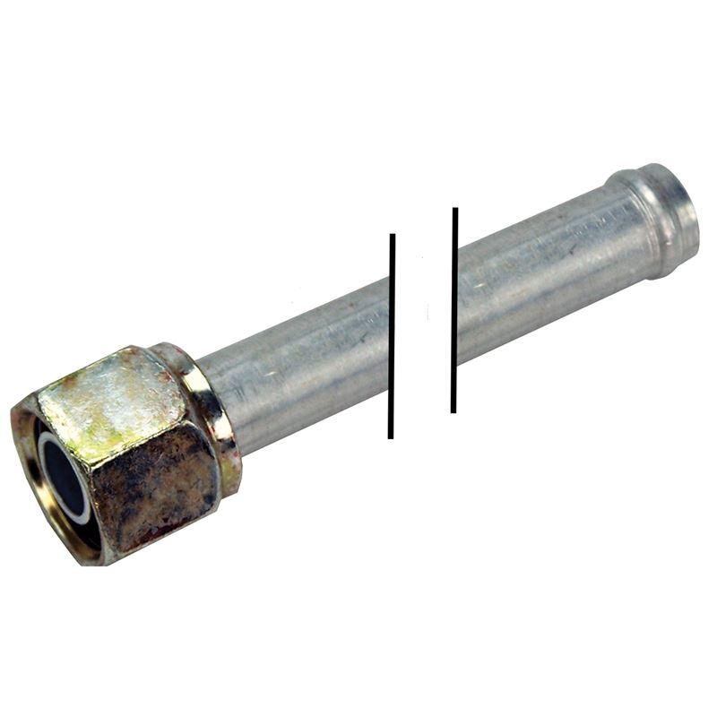 "12-0014   Aluminum Heater Tube   #10 FO x 5/8"" Hea"