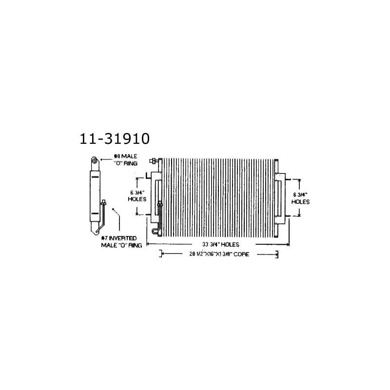 Condenser Cadillac, All, 73-74 11-31910