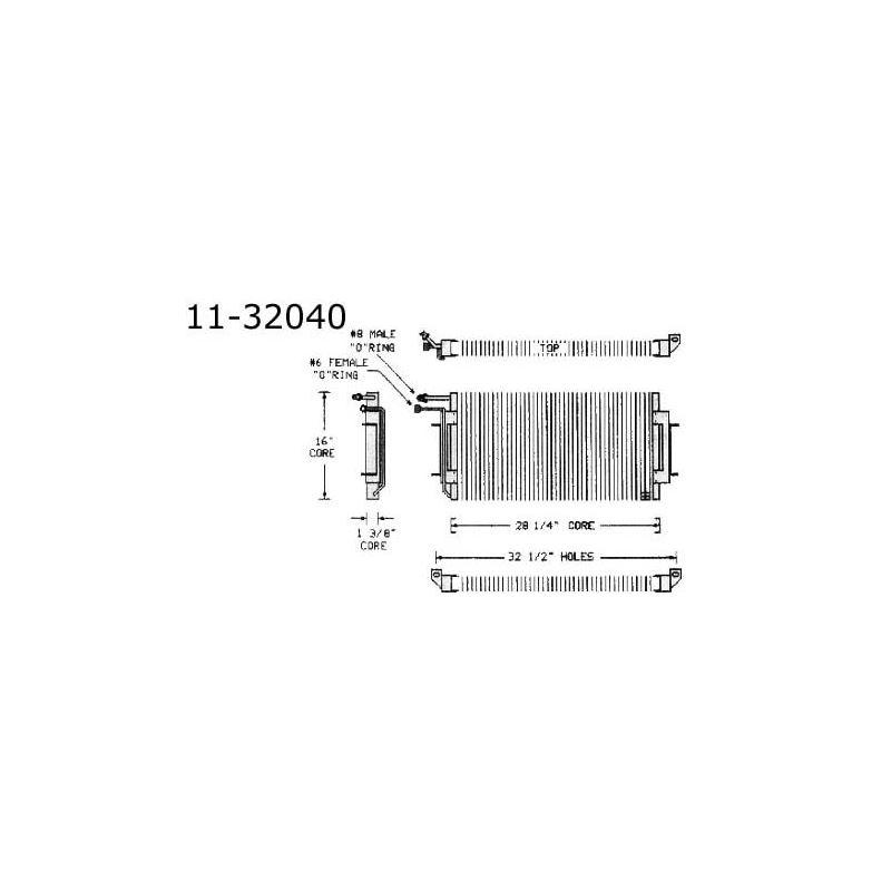 Condenser Oldsmobile, Cutlass All w/ VIR, 74-77 11