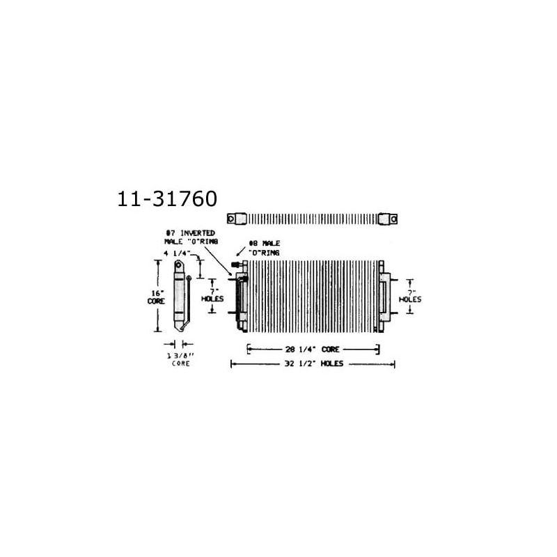 Condenser Oldsmobile, Cutlass, V8, 68-72 11-31760