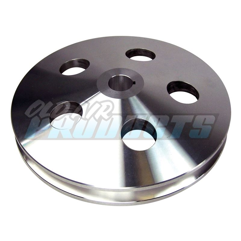 Pulley PS Satin Aluminum, Bolt-On, 1 Groove 100-1P