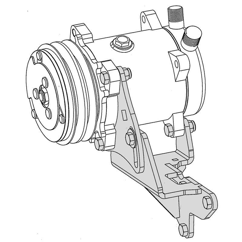 40-7360L - Compressor Bracket fits Ford FE Engines